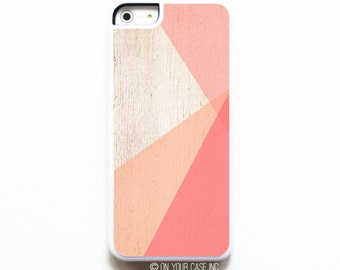 iPhone 5C Case. Coral Color Block - Case for iPhone 5C. Phone Case. Phone Cases.