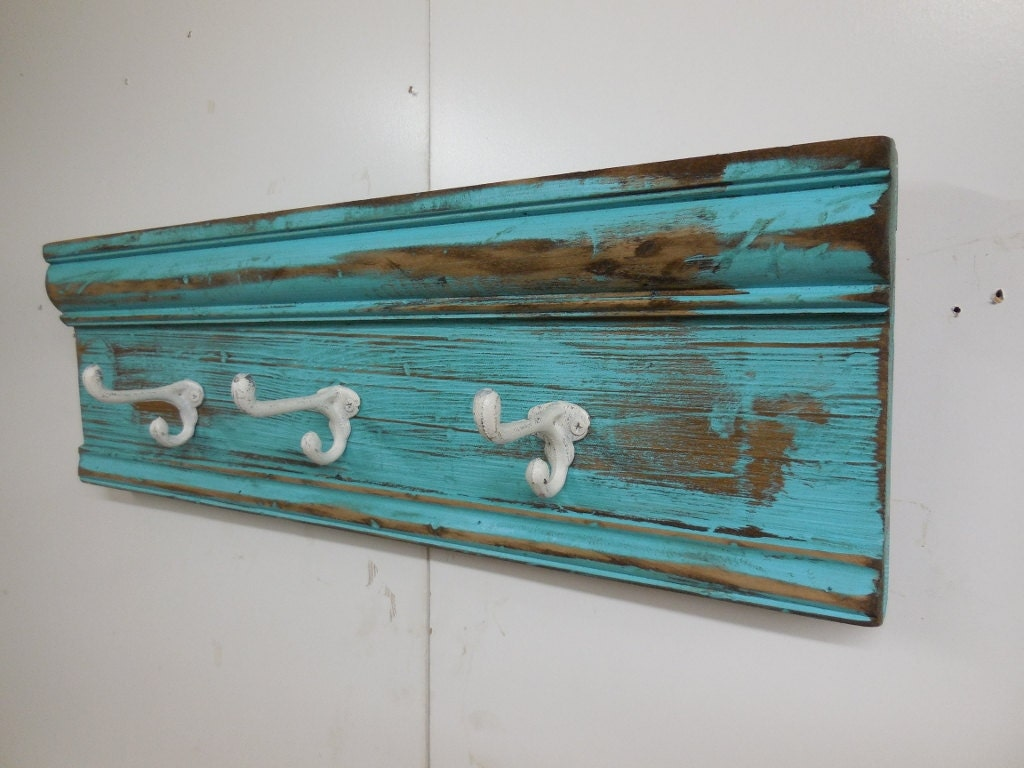 French Country Coat Rack Shabby Chic Coat Rack With Cast Iron