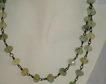 Prehnite-Rope-Necklace
