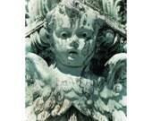 Dreamy Angel Photo, Washington DC, Mint Green, Turquoise Aqua, Verdigris, Home Decor, Garden Decor, Angel Wings, Library of Congress,