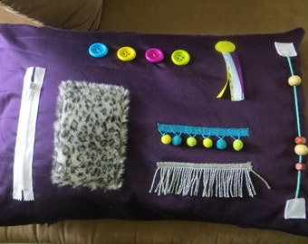 Busy Hands Activity Pillow Cover for Alzheimer's/Dementia Patients