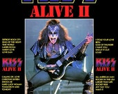 KISS Gene Simmons ALIVE II Album Promo Stand-Up Display