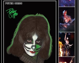 KISS Peter Criss '77 Love Gun Tour Stand-Up Display - Rock Band Collectibles Collection Collector Memorabilia Gift Poster Army Music