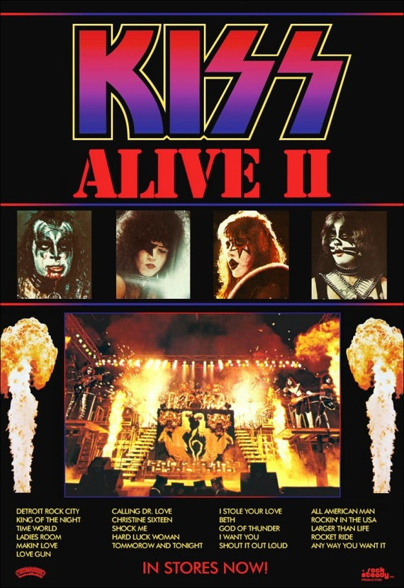 kiss alive ii reproduction promotional stand up display 3. Black Bedroom Furniture Sets. Home Design Ideas