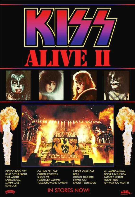 alive ii and kiss En somme, vous avez alive  et alive ii, vous avez un bon best-of de la carrière  de kiss de 1974 à 1977, le meilleur du gang new-yorkais là où.