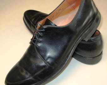 "Vintage CROSBY SQUARE ""Air Ride"" Mens Size 12 C Oxfords Dress Shoes. Black laceup brogues"