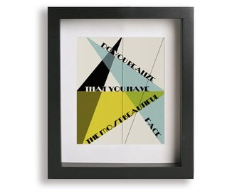 Do You Realize / Flaming Lips - Song Lyric Art Print, mid century modern, unique home accent, husband gift, geometric, music poster