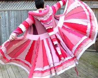 Elf COAT Merino Dragon Sweater Coat Wool Fairy Lambswool Sweater Dress Dream Coat Recycled Upcycled Boho Chic