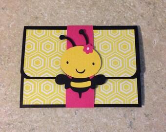 Bumblebee gift card holder