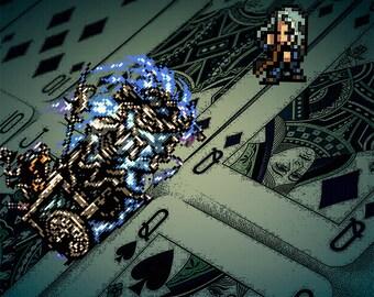Final Fantasy VI Art - Digital Art Print - Super Nintendo Tribute