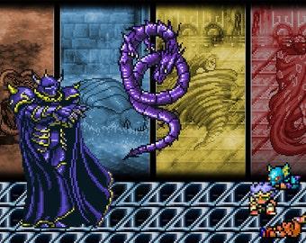 Final Fantasy IV Art - Digital Art Print - Super Nintendo Tribute