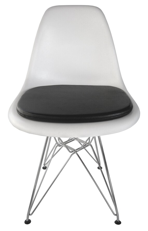 cushion for eames molded plastic side chair. Black Bedroom Furniture Sets. Home Design Ideas