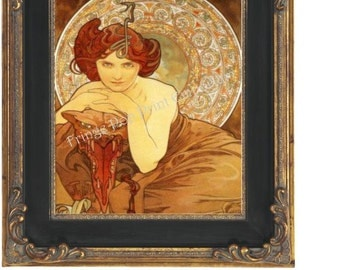 Art Nouveau Art Deco Art Print 8 x 10 - Mysterious Goddess - Queen of Monsters