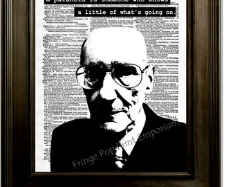 William S. Burroughs Art Print 8 x 10 Dictionary Page - Pop Art Writer - Naked Lunch - Beat Generation - Paranoid Quote