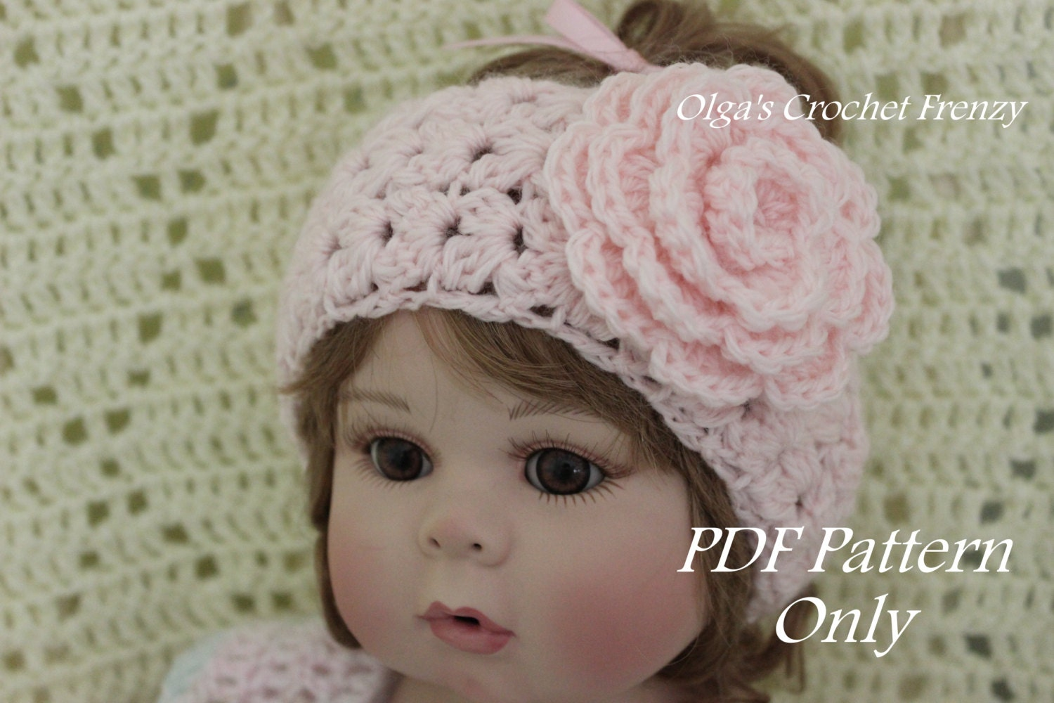 Crochet Headband Pattern Newborn : Crochet Headband Baby to Adult Sizes Crochet Pattern Easy