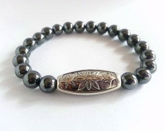 Men's Bracelet, Men's Black Bracelet, Men's Gift, Men's Jewellery, Gift for Men, Gift for Boyfriend, Gift for Brother, Gift for Him