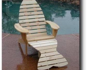 Adirondack Chair & Footrest