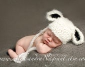 LITTLE LAMB/ SHEEP Baby Hat - acrylic/wool/mohair - photo prop - Made To Order