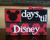 Disney Countdown / Disney Advent Calendar / Wood Disney Sign / Countdown blocks / Disney Vacation