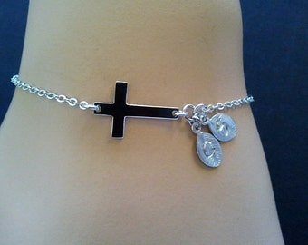 PERSONALIZED Bracelet, INITIAL bracelet ,Wedding Friendship Bangle Chain Charm Bridal Gift personalized jewelry, Christmas gift