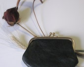 Vintage Coin purse 40s - 50s - Leather purse