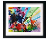 11 x 8.5 Psychedelic Abstract Expressionism Print