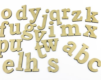 MEDIUM lowercase 26 Wooden Alphabet Letters / Wall Hanging / Nursery Decor / Alphabet Wall