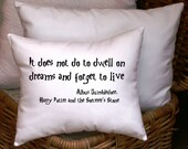 Harry Potter-Dream Quote By Dumbledore-10X12- White Cotton Pillow