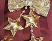 Gold or Silver Star Bow Clip