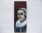 Portrait of a Woman - Original Oil Painting on Wood, After Frans Hals