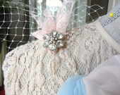 Pale Pink Shoulder Brooch, Corsage, Wedding, Lapel Pin, Mini Bouquet, Fabric Flower, Accessories, Boutonniere