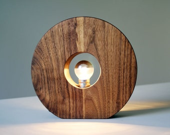 Walnut wood lamp