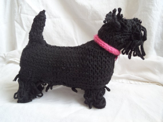 Knitted stuffed Scottie Dog Knitted stuffed animal