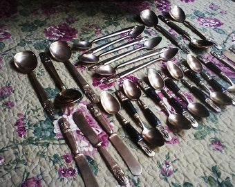 28 piece Brass Flatware