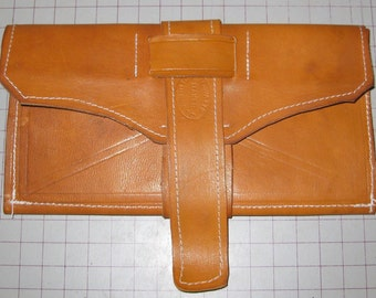 19th century Civil War Leather Wallet 2 Fold