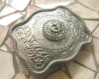 Monogram Letter G Personalized Silver Belt Buckle, Rhinestone Initial G Monogrammed Womens Mens Kids Western Belt Buckle, Custom Belt Buckle