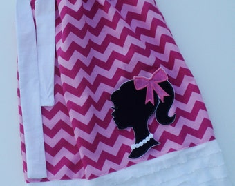 Chevron Barbie Ruffle Pillow Case Dress
