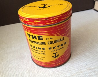 """Tea Tin Can Paris, France """"The Compagnie Coloniale"""""""