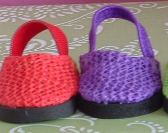 Summer Clogs  in Six Colors for American Girl Dolls