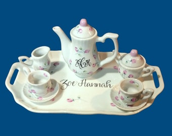 Personalized Hand Painted Child's Mini Tea Set-Baby Gift