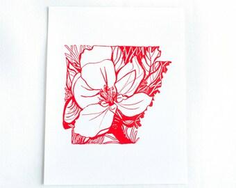 Letterpress Arkansas Apple Blossom