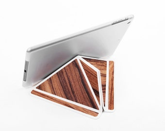 iPad Case iPad Stand Tablet Stand Tablet Case with Back for iPad Air 1 Leather/Wood Combination Christmas Gift Tablet Sleeve iPad Holder