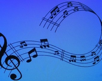 Black Vinyl Musical Notes Wall Decal