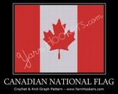 Canadian National Flag - Afghan Crochet Graph Pattern Chart - Instant Download