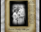 Father Daughter Wedding Frame Bride Just For Dad Father of the Bride Keepsake Personalize Picture Frame 5x7