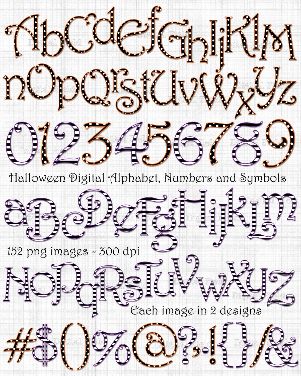 Halloween Alphabet Letter R Cat Witch Ryta: Halloween Alphabet Number And Symbol Clip Art Set By