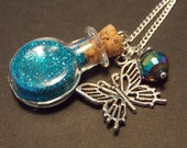 Butterfly Wishes Bottle Necklace