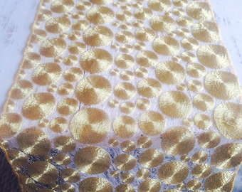 Gold Tablerunners, Gold Sequin Table Runner, Gold Tablecloth, Gold Overlay