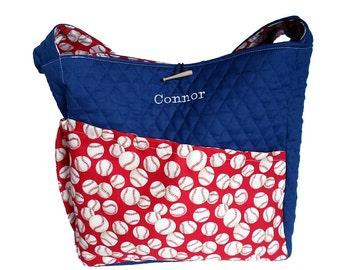 Baseball Diaper Bag, Personalized Boy Diaper Bag - Made to Order