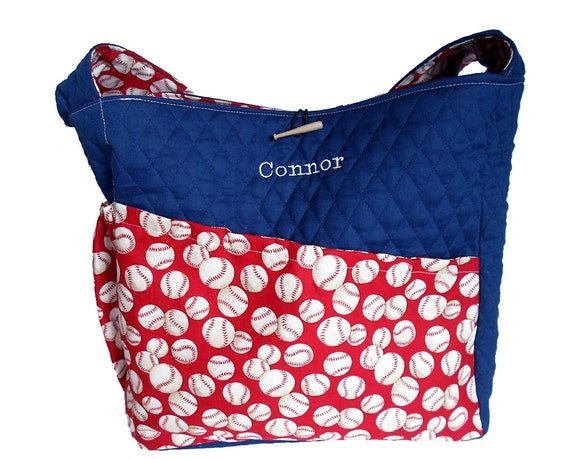 Baseball Diaper Bag, Personalized Boy Diaper Bag - Made to Order